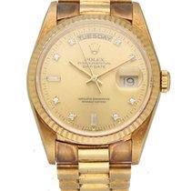 Rolex Day-Date 36 Gult guld 36mm Champagnefarvet