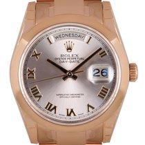 Rolex Day-Date 36 Rose gold 36mm Pink Roman numerals