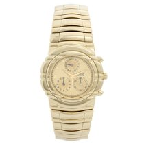 Piaget Tanagra pre-owned 33mm Champagne Chronograph Yellow gold