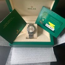 Rolex Oyster Perpetual 34 Acero 34mm Plata Sin cifras
