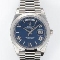 Rolex Day-Date 40 Platin 40mm Blau Römisch Schweiz, Zurich