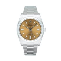 Rolex Oyster Perpetual 36 Steel 36mm Yellow Arabic numerals South Africa, Centurion