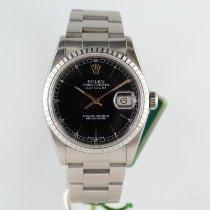 Rolex Datejust Acciaio 36mm Nero Italia, ROMA