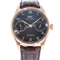 IWC Rose gold Automatic Grey 42mm pre-owned Portuguese Automatic