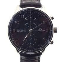 IWC Portuguese Chronograph usados 41mm Negro Cronógrafo Piel