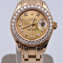 Rolex Lady-Datejust Pearlmaster Yellow gold 29mm Champagne No numerals United States of America, Texas, Houston