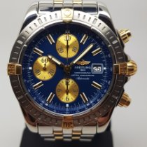 Breitling Chronomat Evolution occasion 44mm Bleu Chronographe Date Or/Acier