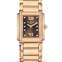 Patek Philippe Twenty~4 Rose gold 25mm Brown Roman numerals United States of America, New York, New York