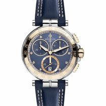 Michel Herbelin Newport Yacht Club new 2021 Quartz Chronograph Watch with original box and original papers 33656/TR55BL