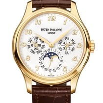 Patek Philippe Yellow gold Automatic White Arabic numerals 39mm new Perpetual Calendar