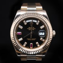 Rolex Day-Date II Rose gold 41mm Pink Roman numerals United States of America, Florida, Aventura