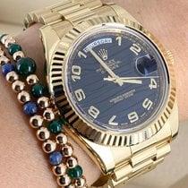 Rolex Day-Date II Oro amarillo 41mm Negro Romanos