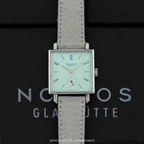NOMOS Tetra pre-owned 29.5mm Green Date Year Leather