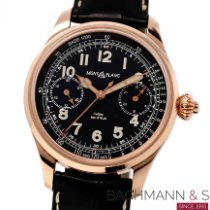 Montblanc pre-owned Manual winding 44mm Black Sapphire crystal 3 ATM