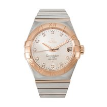 Omega Constellation Men pre-owned 38mm Silver Gold/Steel