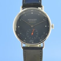 NOMOS Metro Neomatik pre-owned 38.5mm Blue Leather