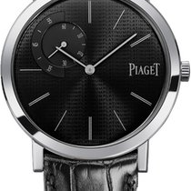 Piaget Platino Cuerda manual Negro Sin cifras 40mm nuevo Altiplano