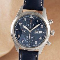 IWC Fliegeruhr Chronograph Stahl 42mm Blau Deutschland, Chemnitz