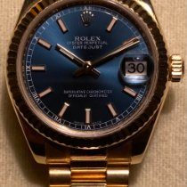 Rolex Datejust Yellow gold 31mm Blue
