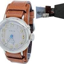 Oris Big Crown 1917 Limited Edition pre-owned 40mm Silver Date Leather