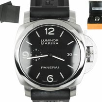 Panerai Acier Remontage automatique Noir Arabes 44mm occasion Luminor Marina Automatic