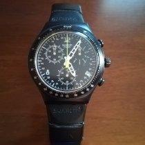 Swatch Aluminum Quartz Black Arabic numerals 38mm pre-owned