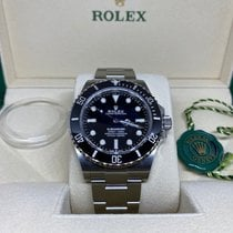 Rolex Submariner (No Date) Acero 41mm Negro Sin cifras