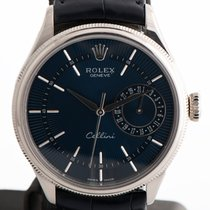 Rolex Cellini Date White gold 39mm Blue No numerals