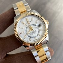 Rolex Sky-Dweller Gold/Steel 42mm White No numerals Canada, North Vancouver
