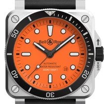 Bell & Ross BR 03-92 Steel Steel 42mm Orange No numerals United States of America, Texas, Houston
