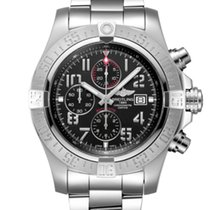 Breitling Super Avenger II Steel 48mm Black Arabic numerals United States of America, New Jersey, Princeton