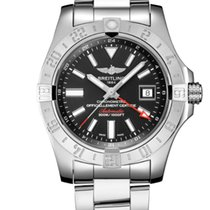 Breitling Avenger II GMT Steel 43mm Black No numerals United States of America, New Jersey, Princeton