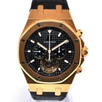 Audemars Piguet Royal Oak Tourbillon Or rose 44mm Noir Sans chiffres