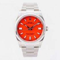 Rolex Oyster Perpetual 36 Ocel 36mm Červená Bez čísel