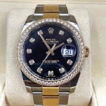 Rolex Datejust Acero y oro 36mm Negro Sin cifras