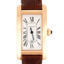Cartier Tank Américaine Rose gold 23mm White Roman numerals