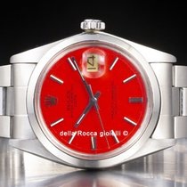 Rolex Oyster Perpetual Date Acero 34mm Rojo