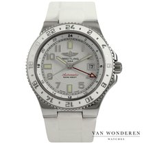 Breitling Superocean GMT Steel 41mm White