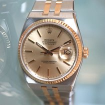 Rolex Datejust Oysterquartz Goud/Staal 36mm Champagne Geen cijfers