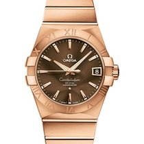 Omega Rose gold Automatic Brown 38mm new Constellation Men