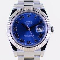 Rolex Datejust II Stahl 41mm Blau Römisch Deutschland, Langenfeld