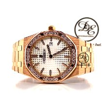 Audemars Piguet Royal Oak Lady Oro rosa 33mm Plata Sin cifras