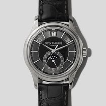 Patek Philippe White gold Grey 40.2mm pre-owned Annual Calendar