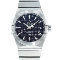 Omega Steel Automatic Black 38mm pre-owned Constellation Men