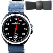Meistersinger Metris Steel 38mm Black
