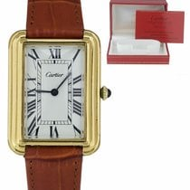 Cartier Tank (submodel) Золото/Cталь 27mm Белый Римские