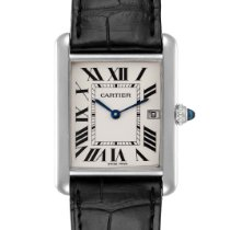 Cartier Tank Louis Cartier pre-owned 25mm Silver Date Leather