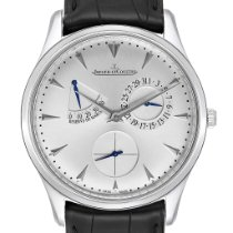 Jaeger-LeCoultre Master Ultra Thin Réserve de Marche pre-owned 39mm Silver Date Leather