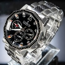Corum Admiral's Cup Challenger occasion 44mm Noir Chronographe Double chronographe Acier