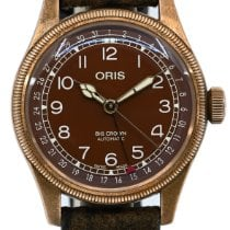 Oris Big Crown Pointer Date Bronze 40mm Brun Arabes France, Lyon
